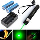 532nm Assassin Green Laser Pointer 50Miles Visible Light+2xBattery+Dual Charger