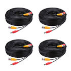 4 Pcs -LS 30M Security Camera Cable CCTV Video Power Wire BNC RCA Black Cord DVR