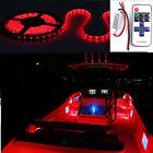 16FT Red Wireless 12V LED Light Strip Kit For Boat Marine Deck Interior Lighting