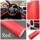 127x30cm DIY 3D Carbon Fiber Wrap Roll Sticker Decor for Car Auto