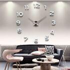 2018  Free Shipping New Clock Watch Wall Clocks Horloge 3d Diy Acrylic Mirror