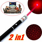 650nm Red Laser Pointer Pen Portable 2in1 Star Pattern Light AAA Cat Toy Laser