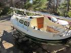1984 Halman 21 Double Ender Sailboat w/Tandem Axle Trailer 8hp Yamaha Outboard