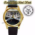 1963 STUDEBAKER AVANTI Famous Vintage Round Gold Metal Watches