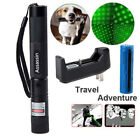 Adjustable 18650 Green Laser Pointer Pen 532nm 2in1 Visible Beam+Battery+Charger