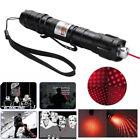 18650 Red Beam Laser Pointer Pen 650nm Light Belt Clip Lazer+Star Cap Waterproof