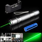 Mini Single Point Green Laser Pointer Pen 532nm Visible Beam Light+18650+Charger