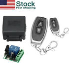 Wireless Control Remote Transmitter 1CH Relay Receiver Switch Module RF+2 12V US