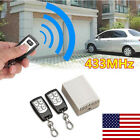 Wireless Remote Control Relay Switch 12V 4CH Receiver Module+2 RF Transmitter US