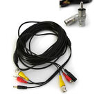 50FT 15M BNC CCTV SURVEILLANCE SECURITY CAMERA AUDIO RCA VIDEO POWER CABLE WIRE