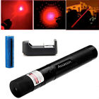 2In1 Star Pattern Red Beam Light Laser Pointer Pen Rechargeable+Battery+Charger