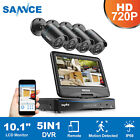 SANNCE 4CH 1080N LCD Monitor 5in1 DVR 1500TVL Outdoor IR Security Camera System
