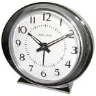 Alarm Clock, Battery-Operated, Silver
