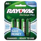 Rayovac Recharge Plus NiMH Batteries AA 4 per Pack PL7154B