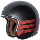 Torc T50 3/4 Vintage Motorcycle Helmet - Metallic Wine Fastlane - CHOOSE SIZE