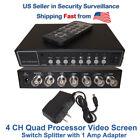 4 Channel Analog Color Quad Processor cctv security video splitter
