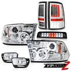 09-18 Dodge RAM 3500 Brake Lights Led Tail Fog Lamps Projector Headlight PAIR