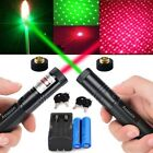 2PC 2in1 Red+Green Laser Pointer 532/650nm Visible Light+2xBattery+Dual Charger
