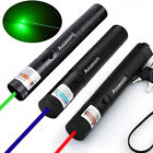 3PCS Green&Red&Blue Laser Pointer Pen 50Miles Single Beam Light Rechargeable USA