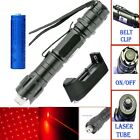 650nm Visible Beam Red Laser Pointer Pen Star Cap Bright Lazer+Battery+Charger