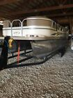 2007 pontoon boat 90 hp four stroke Mercury and dual axle trailer