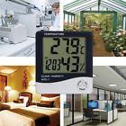 1/2Digital Hygrometer Thermometer Indoor Home Office Temperature LCD+Alarm Clock