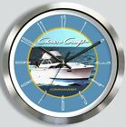 CHRIS CRAFT COMMANDER 35 METAL WALL CLOCK