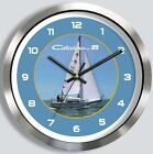 CATALINA 25 METAL WALL CLOCK yacht boat 25 ft sailboat
