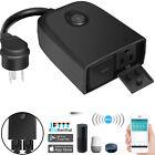 Waterproof Outdoor Smart Wifi Plug Socket Outlets Power Strip Alexa/Google Home