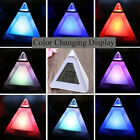 Calendar Colorful Flash LED Screen Night Light Table Watch Triangle Alarm Clock