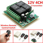 DC 12V 433Mhz 4CH Channel Wireless Remote Control Switch Receiver with Relay