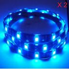 "2pcs Blue 15-SMD 20"" LED Strip Light Scooter Car Motorcycle Glow Toggle 3ft Wire"