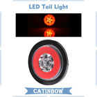 """19 LED Red 4"""" Round Turn Tail Lights For Truck Trailer Signal Brake Stop Lamp"""