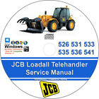 JCB Loadall Telehandler 526 531 533 535 536 541 Factory Workshop Service Manual