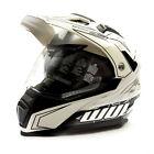 Wulfsport 2019 Prima-X Dual Sport Adventure Adult Helmet White XL GoKarting