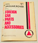 Vintage Beck Arnley 1973 Jaguar Rover edition Foreign Car Parts Accessories Book