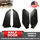 All Weather Insert Panels Half Lower Door for 17-19 Can-Am Maverick X3 Turbo 4D