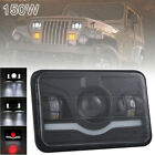 4x6'' 15000LM LED Headlight Hi-Lo Red DRL Sealed Beam for Off-road Car/Truck/Bus