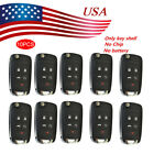 10XFor Chevy Remote 5 Buttons New Flip Key Keyless Entry Uncut With Remote Start