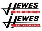 Hewes decals pair sticker boat redfisher 19 Red Fisher Marine Grade Sport L@@K