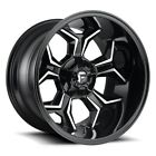 20x9 FUEL D606 6x135/5.5 ET01 Black Machine Rims New Set (4)