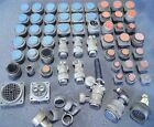 Large Mixed Lot Circular Round Aviation Mil-Spec Connectors Adapters #574