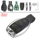 433MHz 3 Buttons Keyless Remote Car Key Fob fit for Mercedes Benz year 2000+