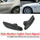 LED Black Side Marker Lights Turn Signal For BMW E82 E88 E60 E61 E90 E91 E92 E93
