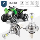 H4 9003 For Arctic Cat Lynx Mountain Cat 92-93 Headlight LED 6500K 80W Bulbs Kit