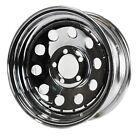 "Trailer Rim Wheel 13"" 13X4.5 5 Lug Hole Bolt Wheel Chrome Modular W/Rivets"