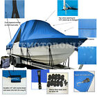 Robalo R225 R 225 Walk Around T-Top Hard-Top Boat Cover Blue