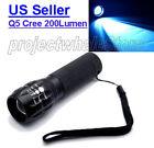 CREE Q5 LED Flashlight Torch Adjustable Focus Zoom Super Bright --Ship from U.S.