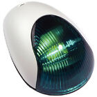 Attwood Vertical Mount Sidelight White Cover Green Lens 2 Nautical Mile 3834G7