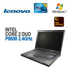 "IBM Lenovo T400 Laptop 14"" LCD/Intel C2D P8600 2.4/4GB/160G/DVD-RW/Win 7 Pro"